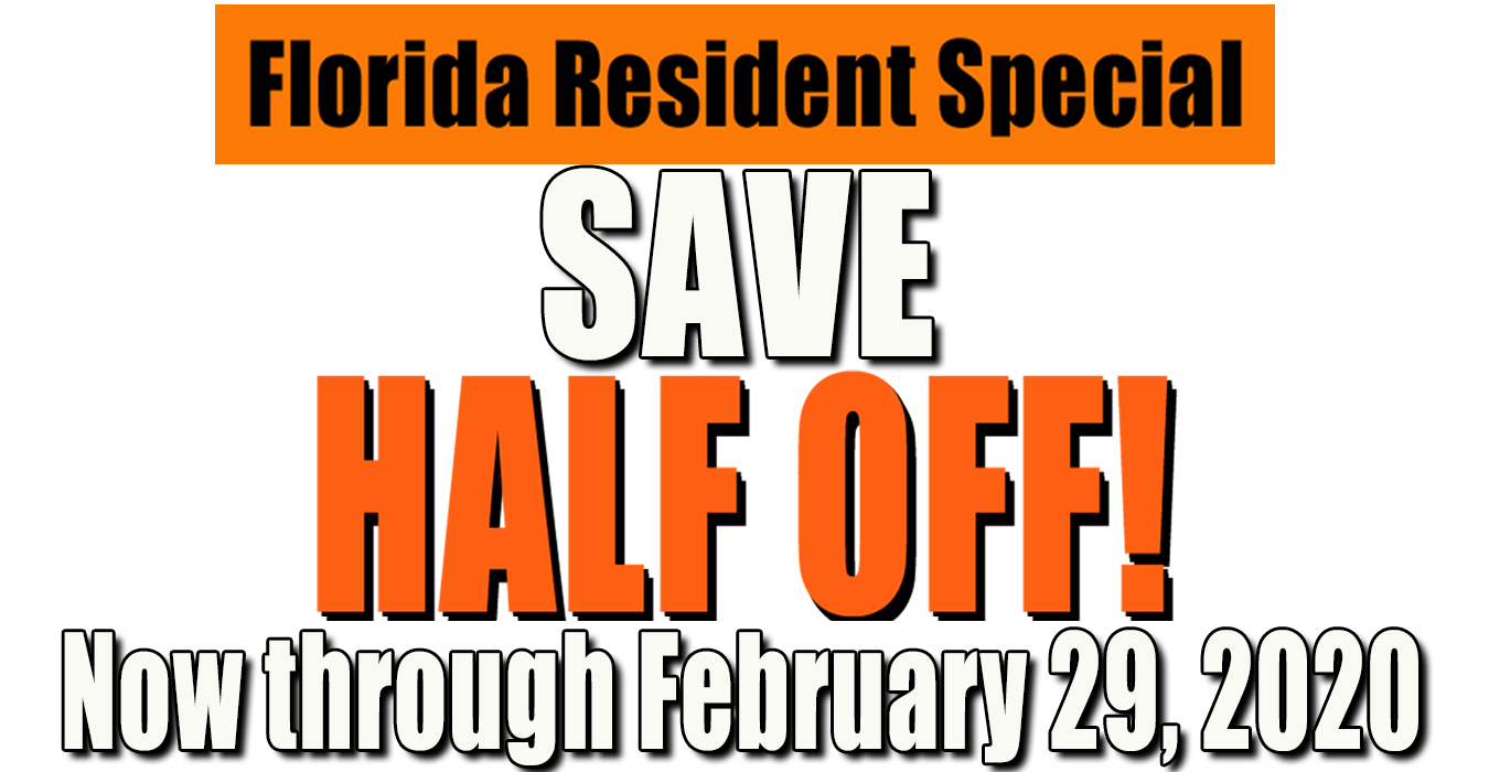 Florida Resident discount February 2020
