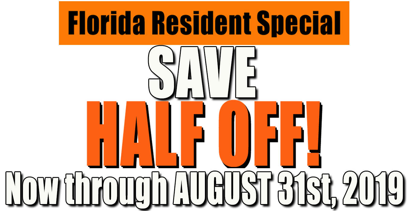 Florida Resident discount August
