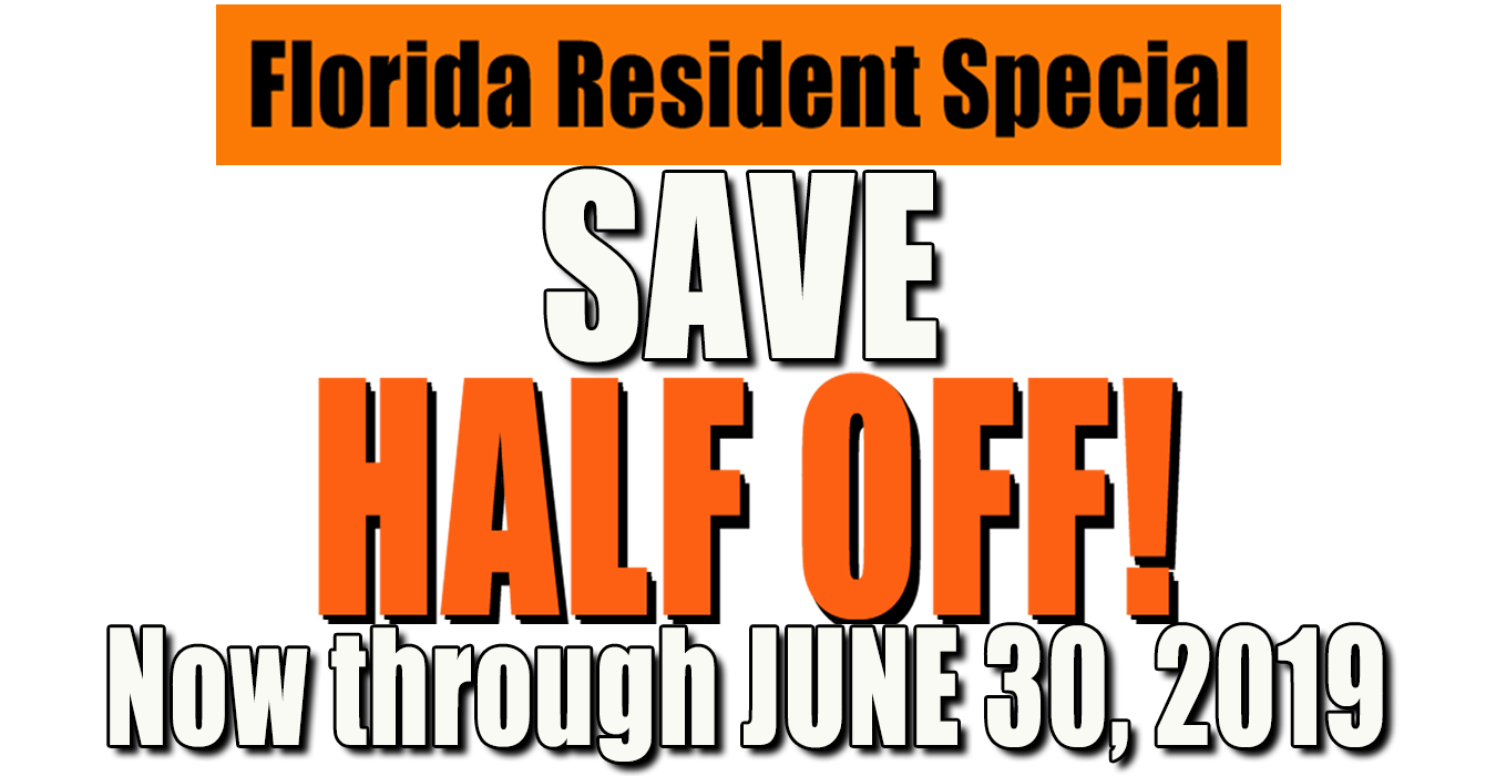 Florida Resident discount June