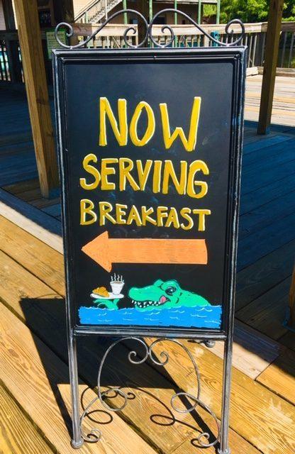 Now Serving breakfast!