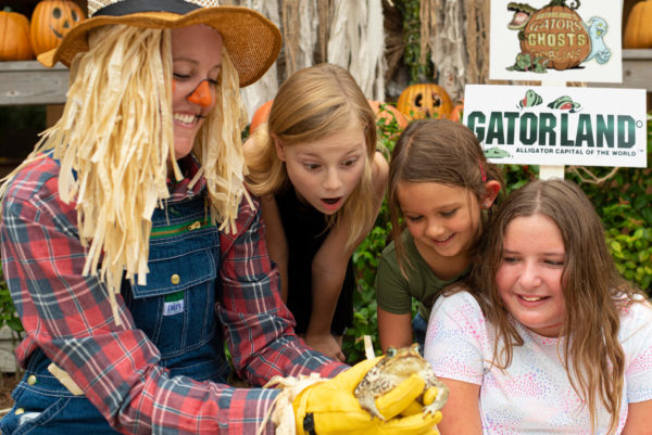 Meet our creepy animals at Gators, Ghosts and Goblins, Gatorland's Halloween event!