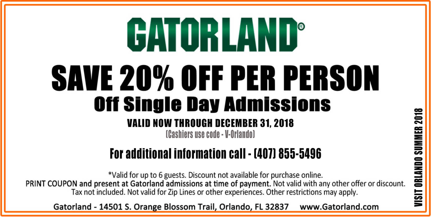 Orlando theme parks discount coupons